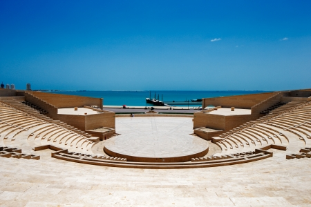 The Katara Amphitheater, Doha is a crafted balance between the classical Greek theater concept and the traditional Islamic features  Completed in 2008, it has a seating capacity of 5000 people