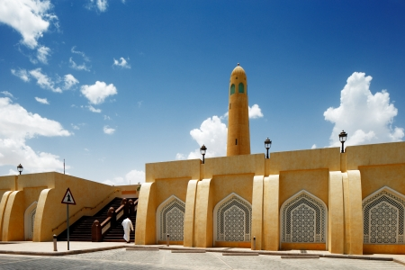 The State Mosque of Qatar, now officially called Sheikh Muhammad Ibn Abdul Wahhab Mosque  It is also known as the Grand Mosque Stock Photo