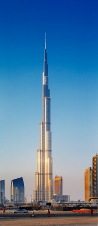The scale of the tallest building in the world is best understood when compared to man walking the street