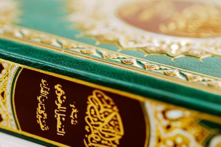 recite: An macro image of the Quran