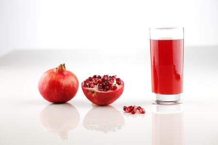 particularly: Organic pomegranate is a fruit associated with most of the middle East, particularly Turkey   Iran Stock Photo