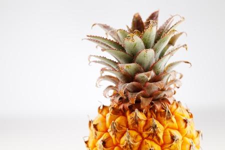 Fresh organic pineapple on a white background Stock Photo - 22169830