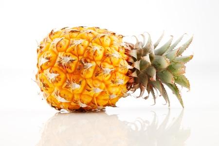 Fresh organic pineapple on a white background Stock Photo - 22169840