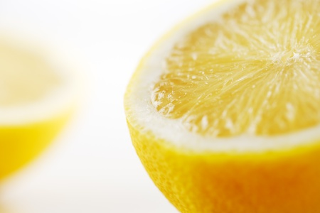 A cross-section of a fresh organic lemon photographed in an abstract manner Stock Photo - 22169897
