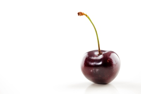 A organic fresh cherry on a white background Stock Photo - 22169814