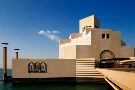 Doha, Qatar  The Museum of Islamic Art is a wonderful contemporary building designed by architect I M  Pei Editorial