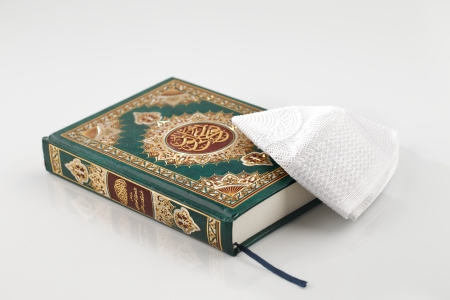 The Quran literally meaning  the recitation , is the central religious text of Islam, which Muslims believe to be a revelation from God or Allah
