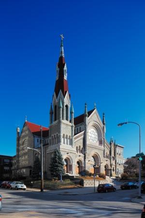 oratoria: St Francis Xavier Church Cat�lica, El Oratorio Fairmount, Filadelfia, EE.UU., AD 1839 Foto de archivo