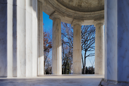 The District of Columbia War Memorial in Washington DC, USA  It commemorates the citizens of the District of Columbia who served in the World War I, located in West Potomac Park