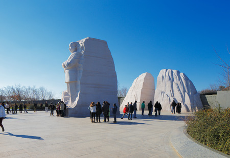 assassinated: The Martin Luther King, Jr  Memorial in Washington DC, USA  Located in West Potomac Park, it commemorates the year the Civil Rights Act of 1964 became law  Editorial