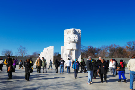 luther: The Martin Luther King, Jr  Memorial in Washington DC, USA  Located in West Potomac Park, it commemorates the year the Civil Rights Act of 1964 became law  Editorial
