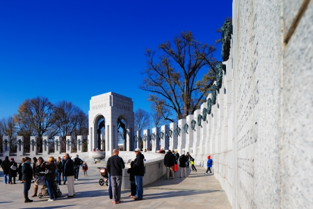 world war two: The U S  National World War II Memorial in Washington DC, USA  It commemorates Americans who served in the armed forces and as civilians during World War II