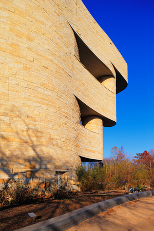 The National Museum of the American Indian in Washington DC, USA  It is dedicated to the life, languages, literature, history, and arts of the Native Americans