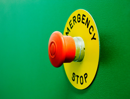 Emergency stop buttons must be obvious to see and simple to operate photo