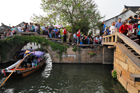 zhouzhuang: Zhouzhuang, is one of the most famous water townships in China, noted for its profound cultural background. It has been called the  Venice of the East  Editorial