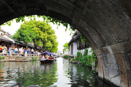 profound: Zhouzhuang, is one of the most famous water townships in China, noted for its profound cultural background.  It has been called the  Venice of the East