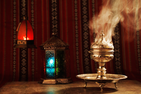 Bukhoor is usually burned in a mabkhara, a traditional incense burner