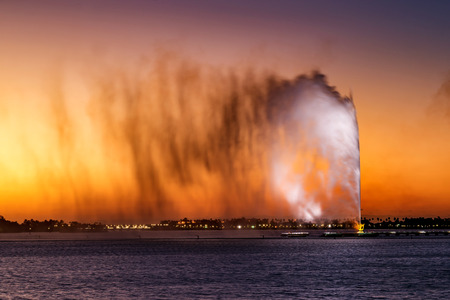 King Fahd's Fountain, also known as the Jeddah Fountain, is a fountain in Jeddah, Saudi Arabia, the tallest of its type in the world