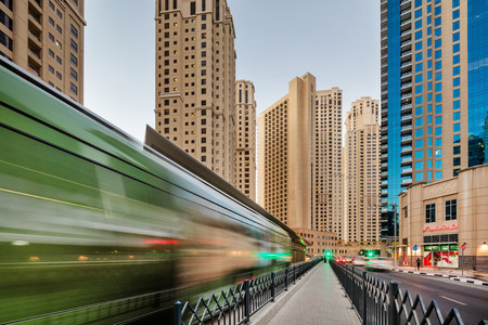 public transport: The Dubai Tram is a tramway located in Al Sufouh, Dubai, UAE. It is a primary rail link between Dubai Metro and Dubai Marina and JBR.