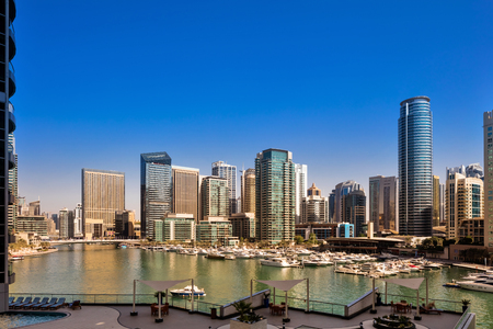 exist: Dubai Marina Skyline during daytime, a city skyline that did not exist 20 years ago