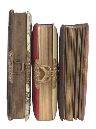 Victorian Photo Albums Isolated On White Reklamní fotografie