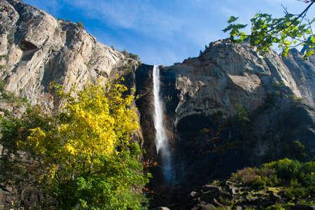 yosemite national park: Waterfall in Yosemite National Park, California