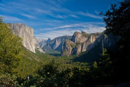 View on the mountains and El Capital while walking in Yosemite National Park, California photo