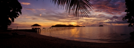 sulawesi: Sunset at the Togean Islands, Sulawesi, Indonesia