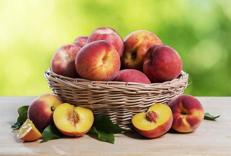 peaches: fresh peaches