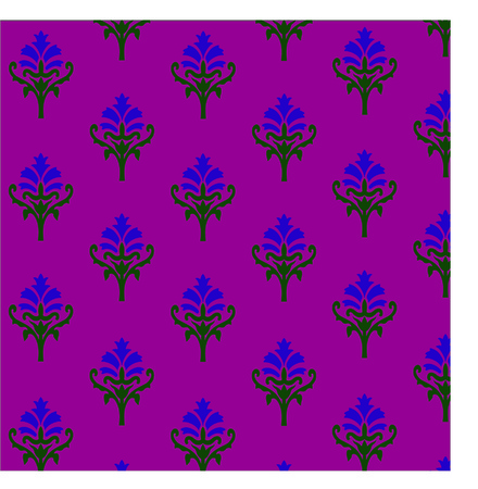 thistle ornamental vector background