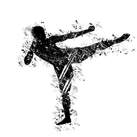 Kickboxing is a stand-up combat sport based on kicking and punching. 矢量图像