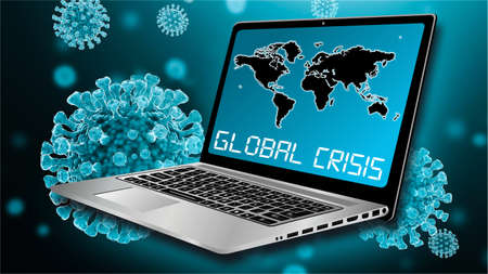 Coronavirus disease (COVID-19) as a cause of the global crisis and recession. Worldwide epidemic of infectious diseases.