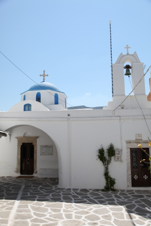Detail of a church on Paros island in the Cylcades  Greece  photo