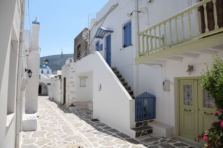 Street on Paros island  Greece  photo