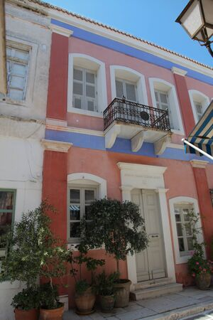Typical greek facade on Paros island (Greece) photo