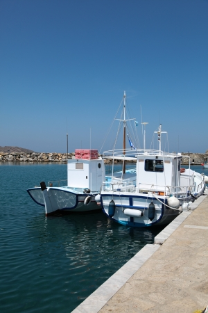 Boats on Paros island in the Cylcades (Greece) photo