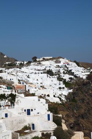 Oia on Santorini island in the Cyclades (Greece) photo
