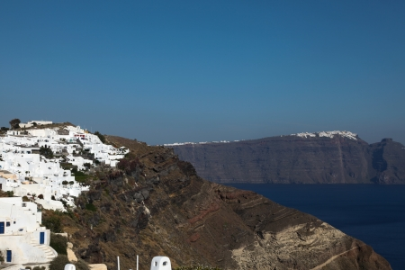 Santorini islands in the Cyclades (Greece) photo