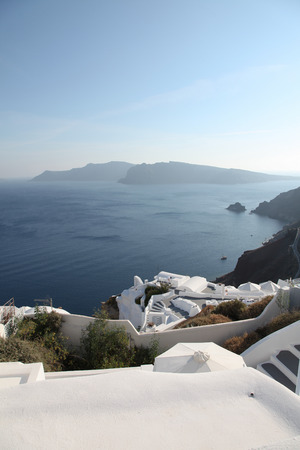 Oia on Santorini island in the Cyclades (Greece) photo