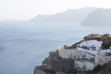 cyclades: Santorini islands in the Cyclades (Greece)