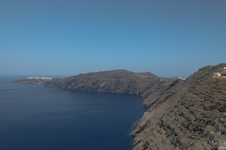 oceanfront: Oceanfront on Santorini island in the Cyclades (Greece)