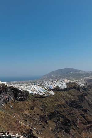fira: Fira on Santorini island in the Cyclades (Greece)