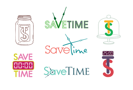 lateness: save time clock vector icon