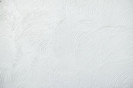 White plaster textured background.