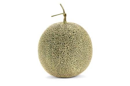 A Japanese cantaloupe isolated on white background. Stock Photo
