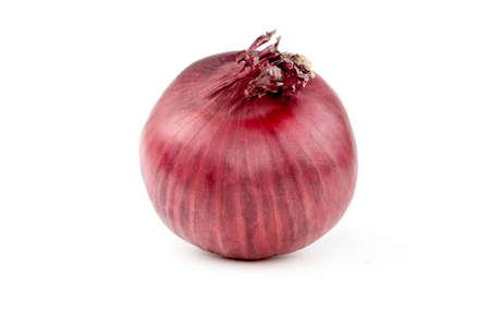 Red organic onion isolated on white background