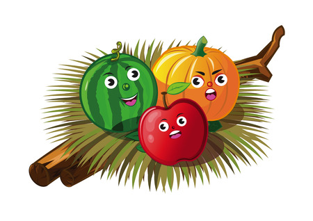 Angry fruit Illustration