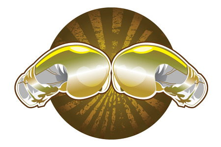 Golden boxing gloves Illustration