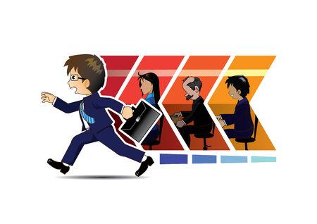 ruchome: biznesmen ruchu firmy Forward Ilustracja