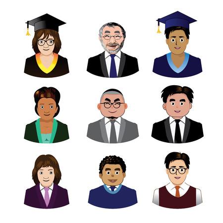 director de escuela: Personas Escuela iconos conjunto